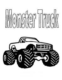 real monster truck coloring page download u0026 print online