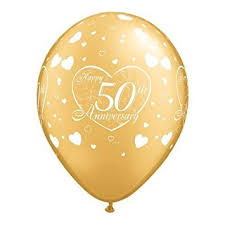 50th wedding anniversary happy 50th wedding anniversary golden 11 balloons x 5