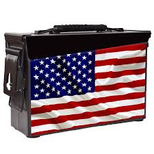 Blue And Black Striped Flag Patriot Ammo Can American Flag Stars And Stripes On Red Or Black