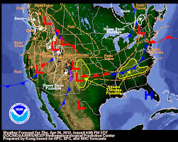 weather fronts map april 27 29 2012 weather