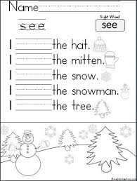 free worksheet to help your students learn to read and write the