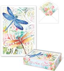 dragonfly swirl die cut note cards punch studio fairyglen