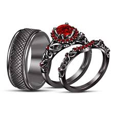 black gold wedding sets wedding rings set for him and black and fresh best 20