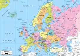 Arctic Circle Map Maps Of Europe And European Countries Political Maps