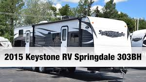 keystone travel trailer floor plans 2015 keystone rv springdale 303bh travel trailer youtube