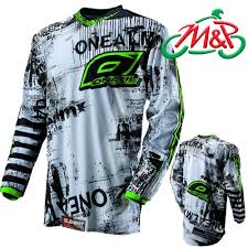 oneal motocross gear 2013 oneal motocross mx element jersey top toxic black green