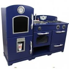 childrens wooden kitchen furniture teamson wooden kitchen for boys in blue play