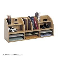 Safco Desk Organizers Safco Products Radius Front Desktop Organizer 12 Compartment