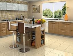 quartz countertops small kitchen island with seating lighting