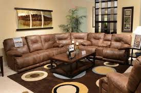 leather couch with cup holders recliner with storage arms