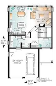 narrow house plans with garage house plan w3889 detail from drummondhouseplans com