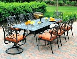 Aluminum Patio Dining Table Patio Dining Sets 7 And Dining Table And Chairs Outdoor