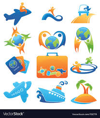 Travel logos royalty free vector image vectorstock