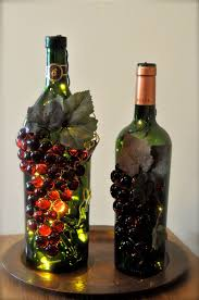 handmade u201cgrape u201d wine bottle nightlights wine bottle crafts