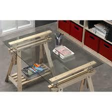 bureau plateau en verre plateau en verre pour bureau maison design bahbe com