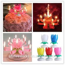 musical birthday candle single layer birthday candle flower rotate