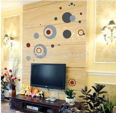 lp removable creative abstract circle wall stickers decoration