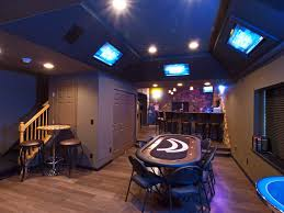 how to decorate a man cave basement traditional with recessed