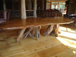 slab dining room table large rustic curly redwood slab table decobizz com