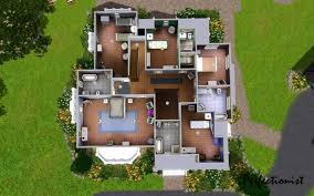 Modern Mansion Floor Plans by Home Design Modern House Floor Plans Sims 4 Beach Style Medium