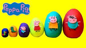 Peppa Pig Play Doh Smallest To Peppa Pig Play Doh Eggs Learn Sizes