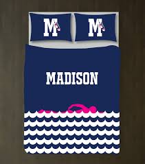 Personalized Girls Bedding by Custom Swimming Bedding Set For Girls Boys And Teens U2013 Shop