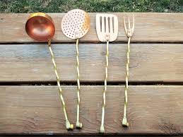 four copper and brass kitchen utensils kitchen utensils and utensils