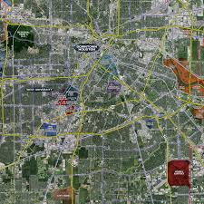 houston standard aerial wall mural landiscor real estate mapping 2017 houston wall map mural standard print scale 96 x90