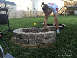 diy backyard stone fire pit actually ashley
