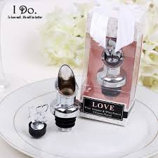 wedding souvenirs free shipping wine stopper and pourer wedding favors and