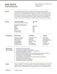 Resume Profile Examples For College Students by Student Resume Examples Graduates Format Templates Builder