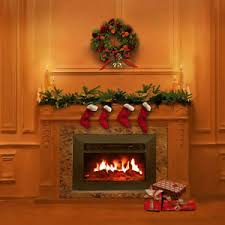 Christmas Photo Backdrops Christmas Tree Indoor Fireplace 10x10 Cp Photo Scenic Background