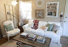 plain beige wallpaint pure white long sofa classic white fur