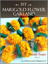 Flower Garland For Indian Wedding My Indian Version Diwali Series Part 1 Diy Marigold Flower