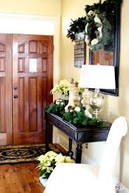 Entry Table Decor by Christmas Entryway Decorating Ideas U2014 Style Estate