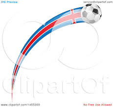 clipart of a soccer ball and greek flag ribbon royalty free