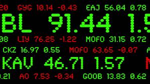 stock ticker custom made stock ticker symbols and prices across the