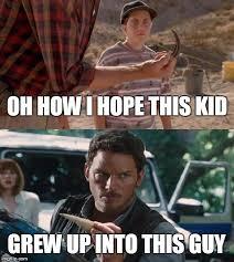Jurassic Park Birthday Meme - chris pratt has seen this sh t before jurassicworld jurassicpark