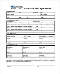 generic credit application template application forms example