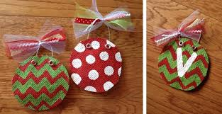 personalized painted burlap ornament