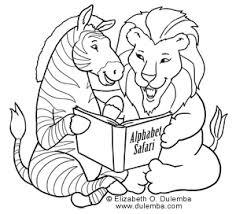 dulemba coloring page tuesday alphabet safari