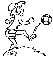 soccer coloring woman soccer player