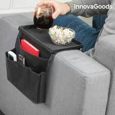 plateau pour canapé organisateur de télécommandes avec plateau pour canapé innovagoods