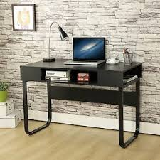 Black Computer Desk Small Computer Desk Industrial Pc Table Space Saving Workstation