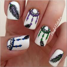 playful polishes dream catcher nail art