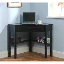maximize your space with this black finished corner computer desk