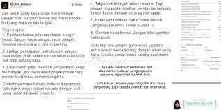 Resume Sample Untuk Kerja Kerajaan by Cara Tulis Resume U0026 Tips Lulus Temuduga Interview Arnamee Blogspot
