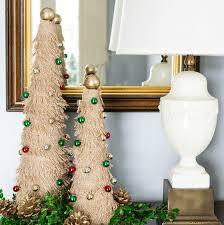 fringed burlap christmas tree tutorial