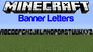 minecraft how to make letters on banners youtube