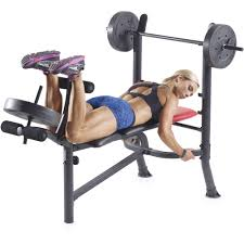 Weider Pro 256 Combo Weight Bench Weider Pro 265 Standard Bench With 80 Lb Vinyl Weight Set
